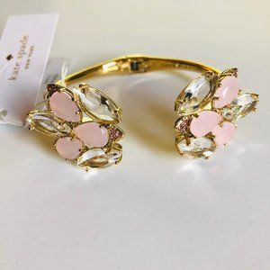 Kate Spade Gold/Blush Blushing Blooms Cuff